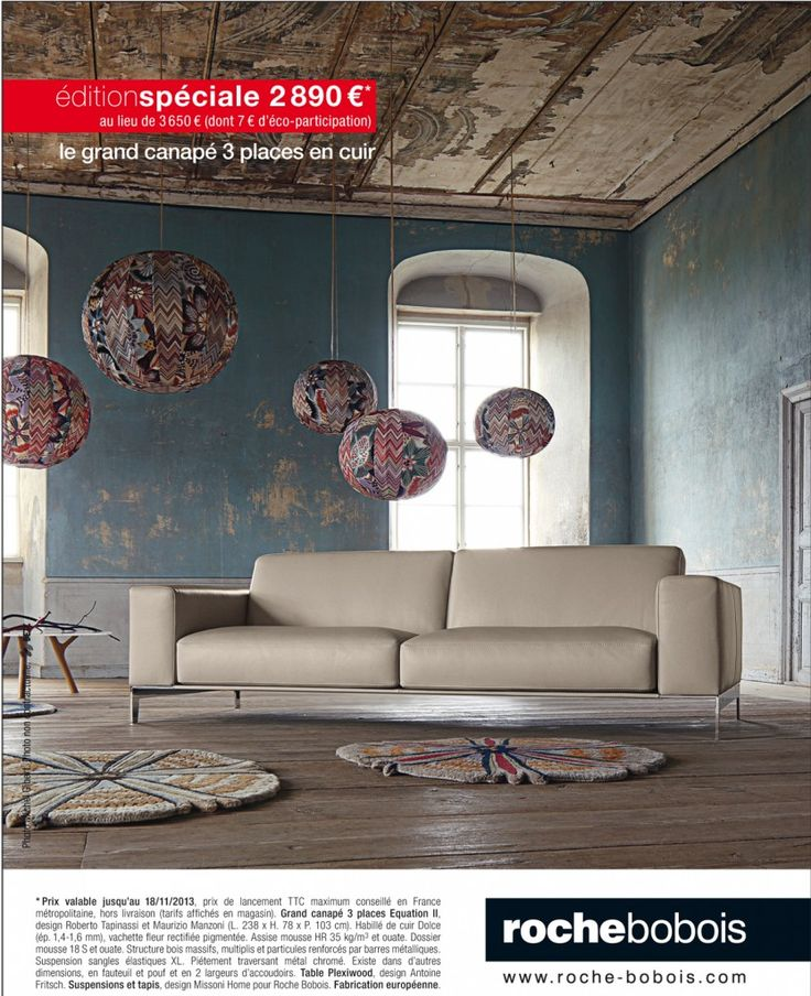 Canap 3 places equation chez roche bobois village du for Catalogue canape roche bobois