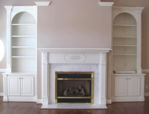 Photos Fireside Bookcase Surrounds Collection Of Fireplace
