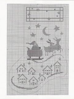 MÁS PUNTO DE CRUZ: Navidad  Christmas Eve Stocking -  free chart