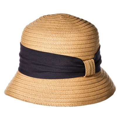70b0335230b Cloche hat with navy band from Target. I have spent the week wearing mine  and pinning.