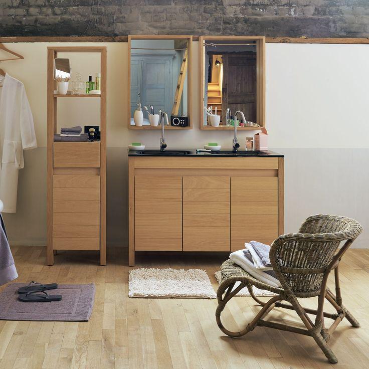 Sous vasque double en chêne Chêne Naturel - Native - Les meubles sous-vasques - Les meubles de salle de bains - Salle de bains - Décoration d'intérieur - Alinéa