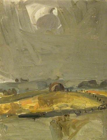 Joan Kathleen Harding Eardley: Haystack in Autumn