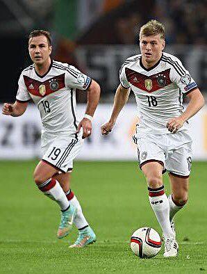 Toni and Mario. Die Mannschaft vs Scotland Euro 2016 qualifying rounds.