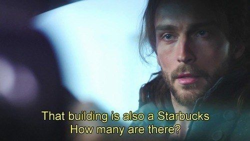 "That time he saw one Starbucks… then another… and ANOTHER. | 19 Times Ichabod Crane Was Adorably Clueless On ""Sleepy Hollow"""