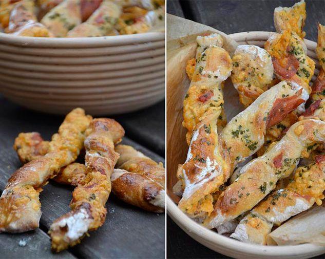 Opskrift på snoede grissinier med cheddar og serrano skinke - Eurowoman