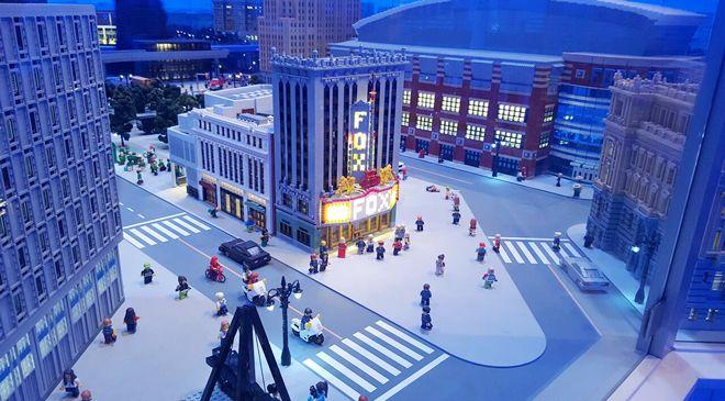 Fox Theatre in Detroit at the LEGOLAND Discovery Center Michigan