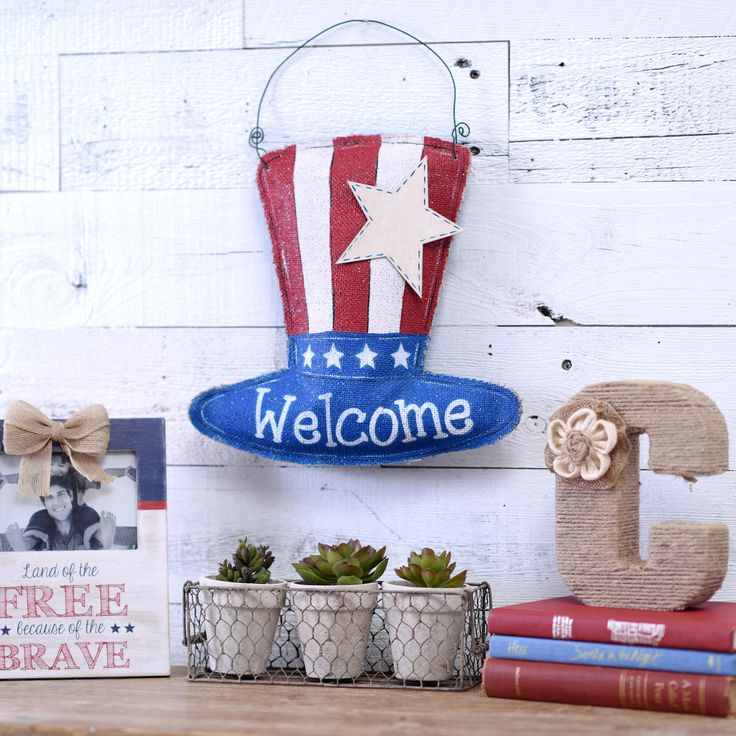 148 best life in the usa images on pinterest american for Patriotic welcome home decorations