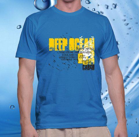 tshirt men, cotton combet gildan front custom Deep Ocean (saphire) – UCUSTOMCASE