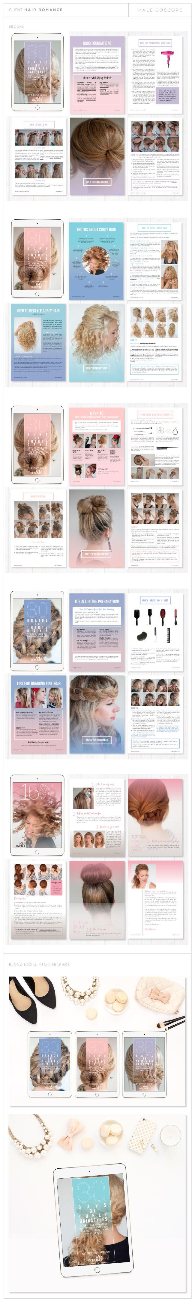Hair Romance Ebook Graphic Design By Amanda Fuller Of Kaleidoscope Design  Studio