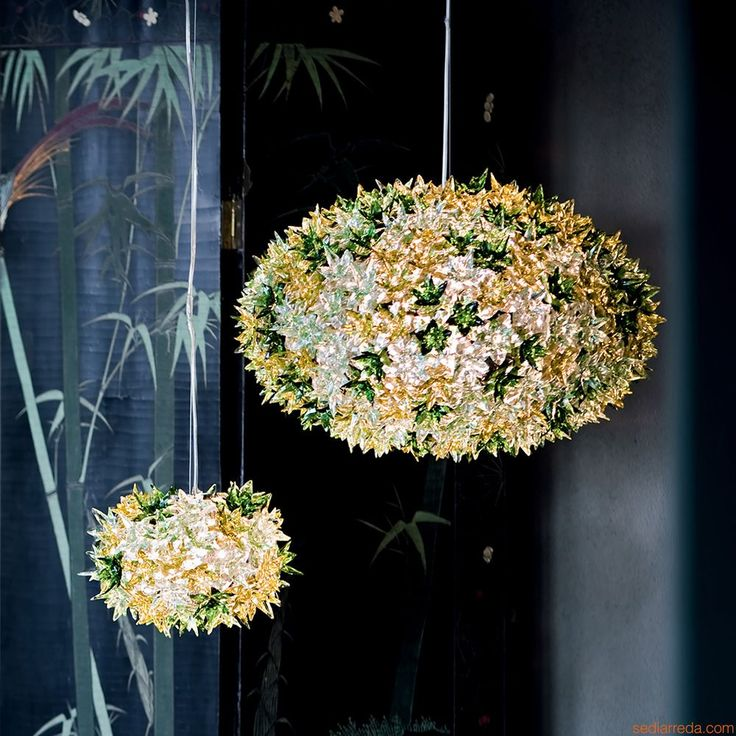 Bloom O | Kartell suspension ceiling lamp, mint green colour (S and M)