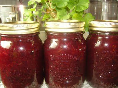 Mennonite Girls Can Cook: blueberry rhubarb jam