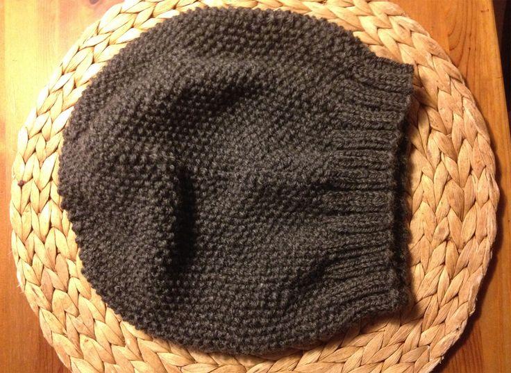 Oversize-Mütze im Perlmuster