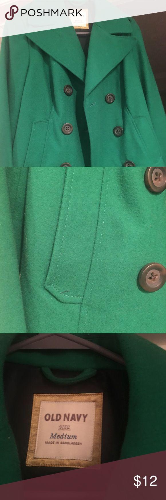 Kelly green Old Navy pea coat! Old Navy kelly green pea coat.  Beautiful color! Old Navy Jackets & Coats Pea Coats