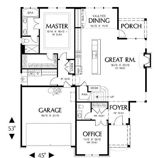 The House Designers Thd 5269 Builder Ready Blueprints To Build A Cottage House Plan With Crawl Space Foundation 5 Printed Sets Walmart Com Cottage House Plans Floor Plans House Plans