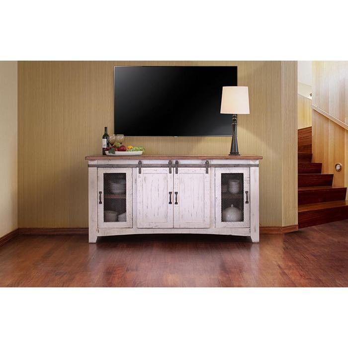 Artisan Home Pueblo 70 TV Stand In Antique White At Nebraska Furniture Mart