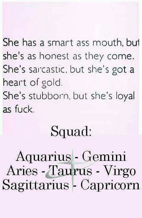 Smart, honest, sarcastic, heart of gold, and loyal.... Aries