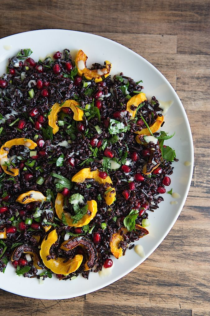 Middle Eastern Inspired Black Rice Salad