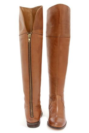 luichiny peg gee cognac leather over the knee riding boots.