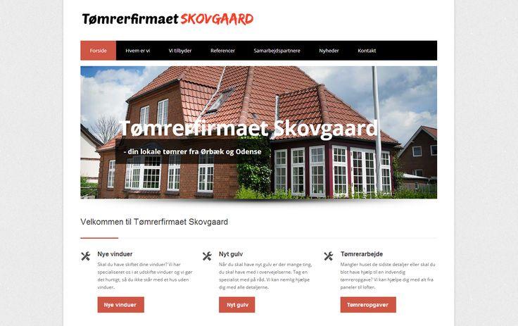 Så har Tømrer Skovgaard fra Ørbæk/Odense fået opfrisket sin hjemmeside.  Vi takker for samarbejdet med Jesper og ønsker ham held og lykke med hjemmesiden :)