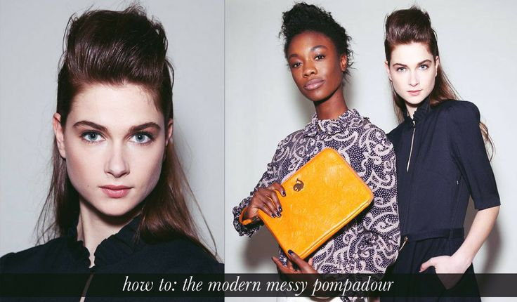 How to: Modern half up pompadour hairstyle