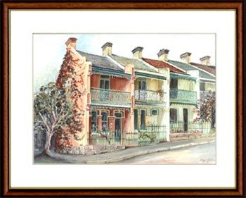 Olga Gostin… Paddington Terraces, Paddington, Sydney, Australia... Terrace houses can be found in many Sydney suburbs but generally not as pronounced as in Paddington. Here the terraces adorn the streets in large numbers creating a unique village atmosphere.