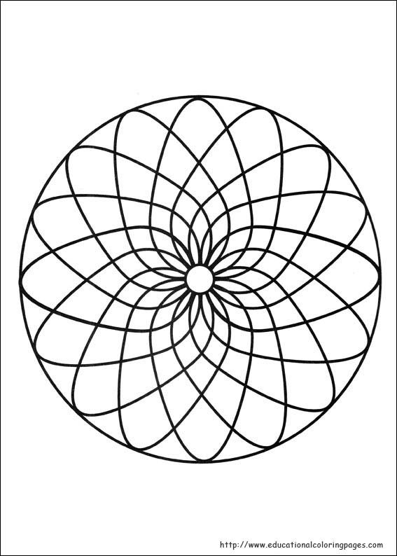 Mandalas 005 Coloring Page For Kids And Adults From Other Pages Painting