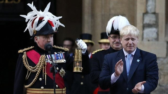 BBC News - Olympic torch: Flame makes dramatic arrival in London. Mayor of London Boris Johnson speech