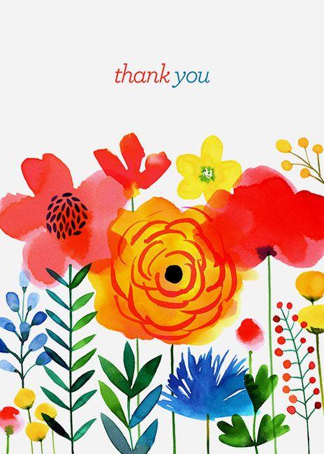 Margaret Berg Art: Meadow+Flowers+Thank+You