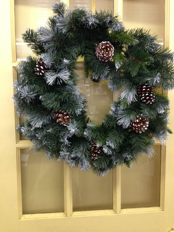 """LolaViola - Wreath:  Glacier Pine 18"""", $14.99 (http://lolaviola.co/wreath-glacier-pine-18/)"""