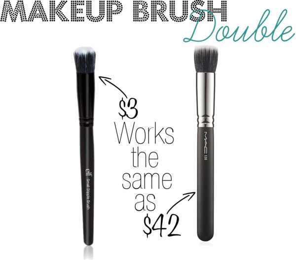 MAC makeup brush double I have both- and I kinda regret spending so much on the Mac one !! But I love both !!!!