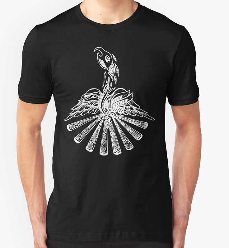 """Phoenix in white"" T-Shirts & Hoodies by scatterlings 