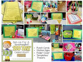 The First Grade Parade: 100th Day Planning & Freebies