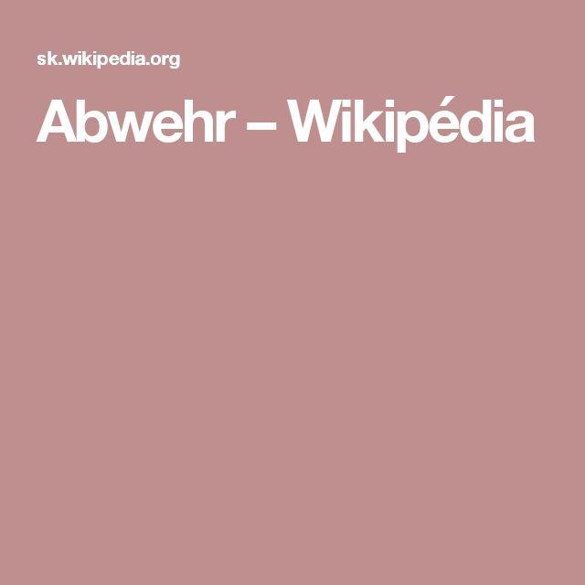 Abwehr – Wikipédia