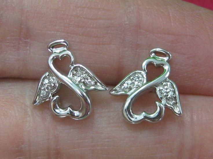 Jane Seymour Open Heart Sterling Silver 925 Stud Angel Earrings RETIRED | Jewelry & Watches, Fine Jewelry, Fine Earrings | eBay!