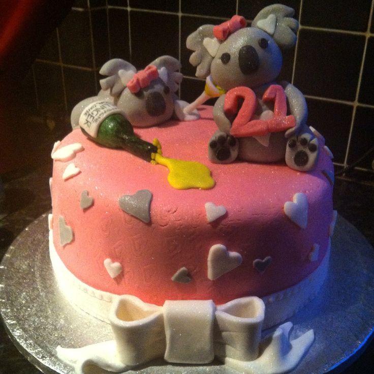 Koala bear birthday cake baby shower pinterest tarta for Piscina koala cumpleanos