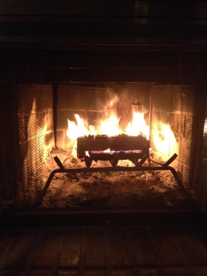 A winter fire