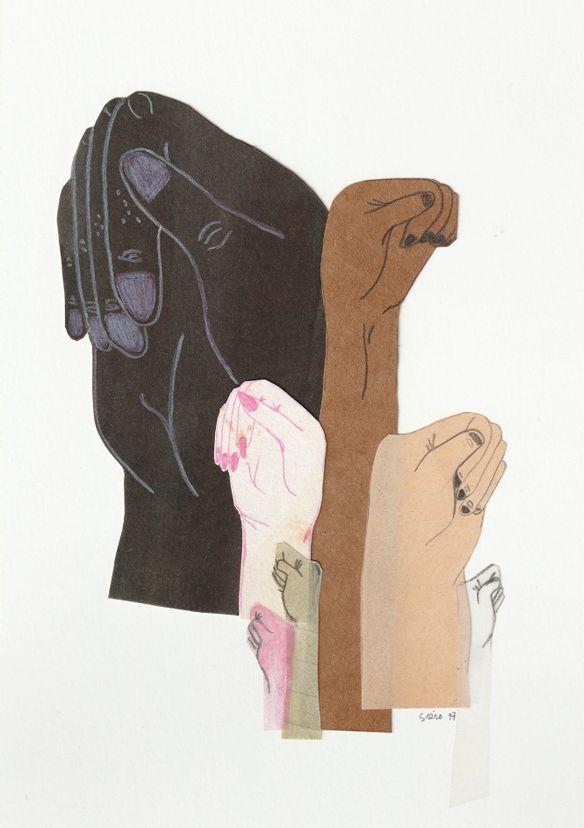 """feminismo"" collage by marina siero <3"