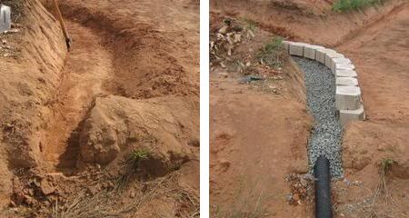 Home-Dzine - How to deal with poor drainage with a French drain