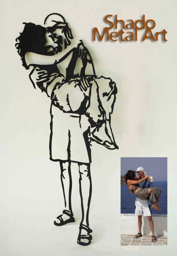 10 jaar verjaardag cadeau voor hem | cadeau voor haar | cadeau voor ouders | cadeau voor mannen | cadeau voor vrouwen | de verjaardagsgiften van de van tin | 10 jarig bestaan  Alle artikelen worden wereldwijd verzonden met Express Mail voor slechts $18!  Welkom bij Shado - Art het Moment ***  Shado is een op maat gemaakte metalen kunstwerk op basis van een foto die u opgeeft. Uw foto, een gekoesterde moment, zal worden omgezet in een unieke en spannende kunstwerk dat zal vangen uw hart en…