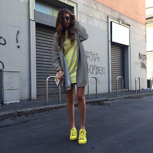 Total look @kontatto_official amo mischiare stampe diverse e amo il giallo ☀️⭐️