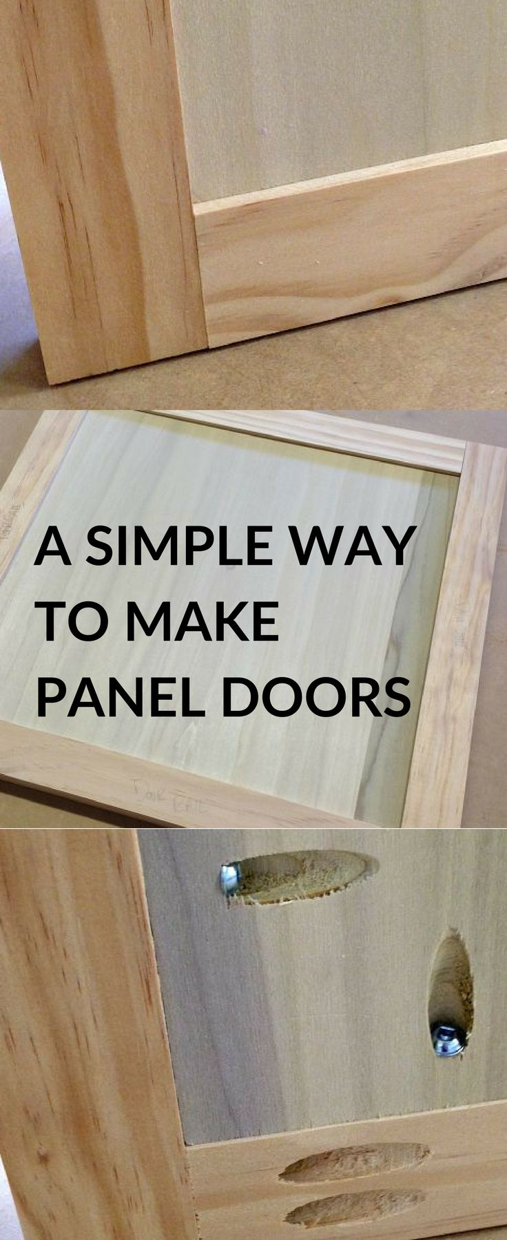 "TIP: Doors with inset panels look awesome, but building them requires sophisticated woodworking tools and techniques—right? Wrong! Just make your doors from 3/4""-thick material, and make panels from 1/2""-thick plywood. Screw the panels in place with pocket-hole screws, and you'll have a great-looking panel door without having to be a woodworking expert!"