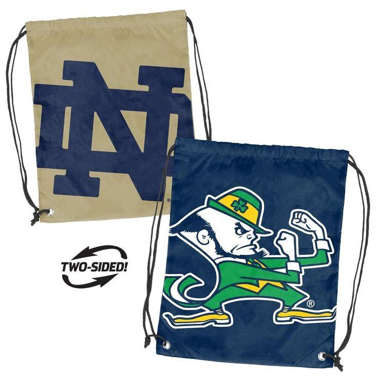OneStopFanShop - Notre Dame Fighting Irish Bag Dual Logo Stringpack Backsack, $29.95 (https://www.onestopfanshop.com/college/notre-dame-fighting-irish/notre-dame-fighting-irish-bag-dual-logo-stringpack-backsack/)