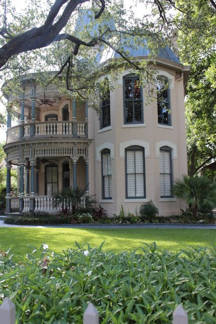 Ike West House A 2 Story Victorian With Curved Porches And Iron Crestings On The Roof Built