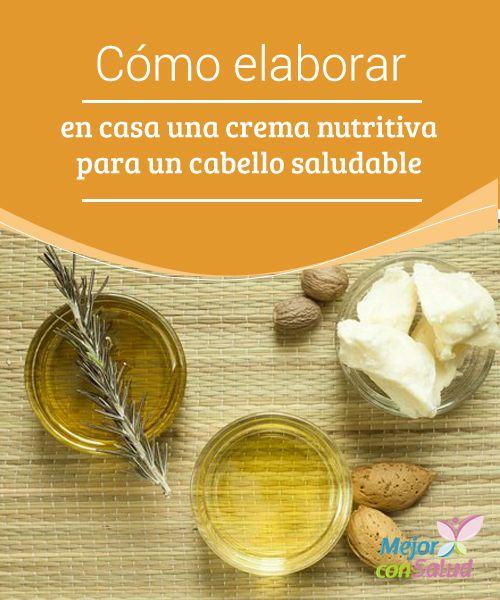 Cómo elaborar en casa una #crema nutritiva para un #cabello saludable El cabello seco necesita #nutrientes para restaurarse y recuperar su #belleza. En esta ocasión te compartimos una increíble crema nutritiva para que lo nutras