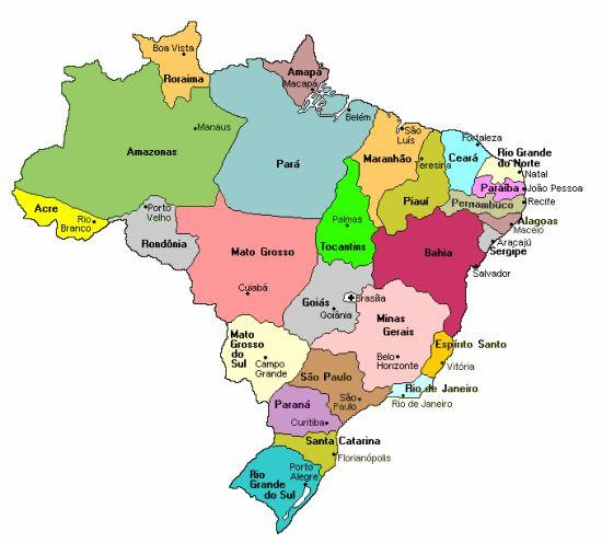 Brazil Coffee Regions Map