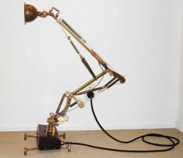 Steampunk Floating Arm Desk Lamp