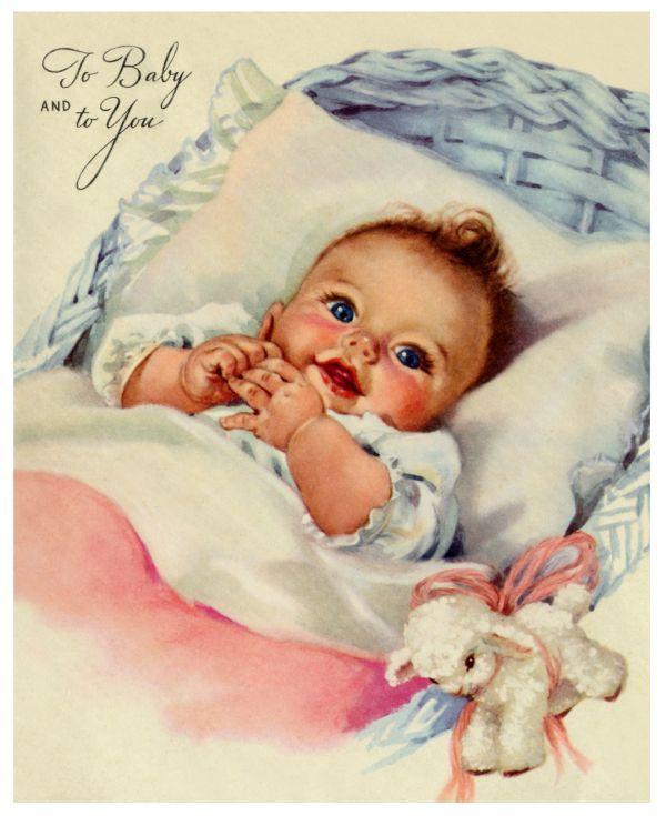 Vintage BABY Greeting Card.                              … …