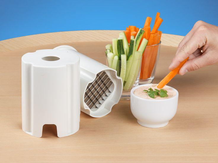 Veggie Stix - Du trycker, den skär i kuber eller stavar! CoolStuff.se