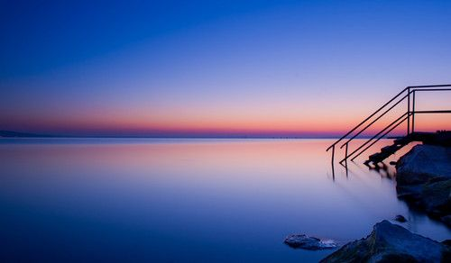 Wouldn't YOU like to step into Lake Balaton at sunset?