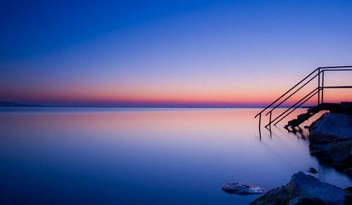 Wouldn't YOU like to step into Lake Balaton at sunset?